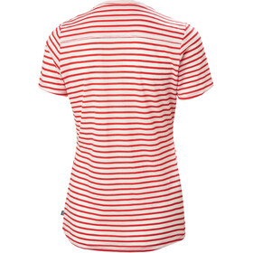 Helly Hansen Merino Graphic T-Shirt Donna, stripe alert red